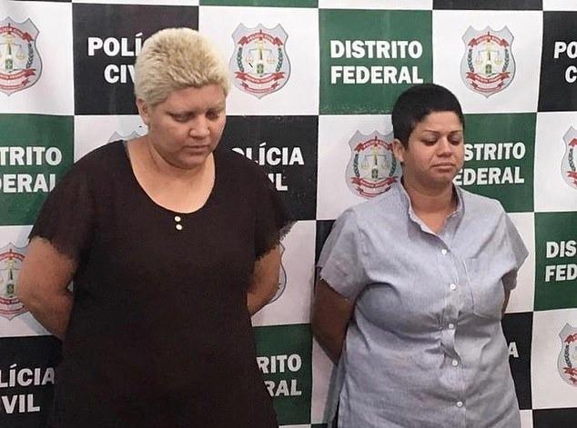 Rosana (trái) và người tình đồng giới bị bắt sau khi ra tay sát hại con trai ruột.