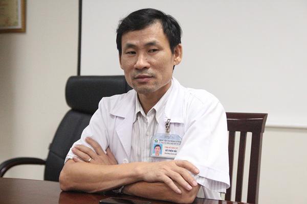 TS Hải cho biết đa phần trẻ đưa đến viện trong tình trạng đã muộn.