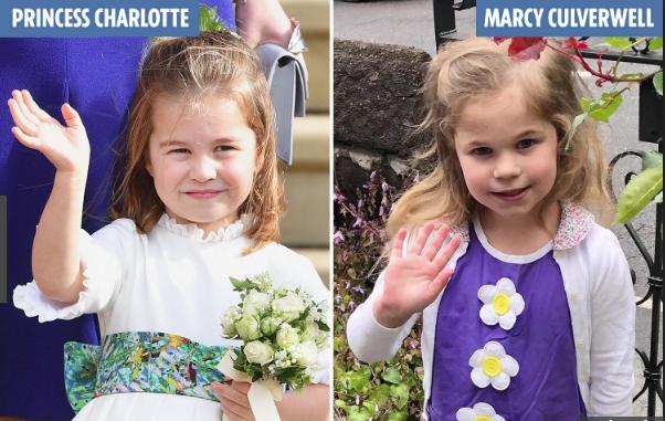Marcy Culverwell có ngoại hình giống Công chúa Charlotte.