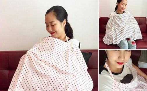 Hình ảnh dễ thương của Ốc Thanh Vân khi cho con bú.