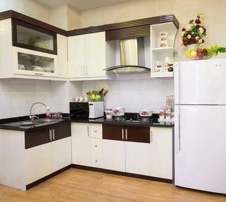 Phòng bếp nhỏ xinh nhưng đầy đủ