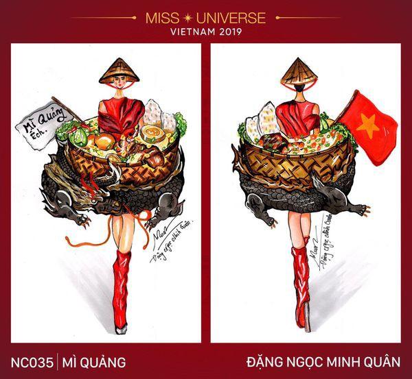 Những thiết kế lấy cảm hứng từ ẩm thực Việt bị cho là cồng kềnh và vẫn ảnh hưởng bởi trang phục Bánh mì của HHen Niê 2018