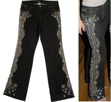 Quần jean ESCADA giá 10.000 usd (khoảng 223 triệu đồng): Escada là thương hiệu làm quần jeans theo ý muốn của khách hàng. Khách hàng có thể sở hữu những chiếc quần jeans được thiết kế, chỉnh sửa tùy ý thích chẳng hạn như đính trang sức, chọn kiểu wash theo mong muốn.