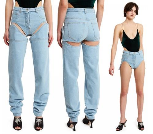 """Bạn sẽ phải tốn gần 10 triệu nếu muốn là chủ của chiếc quần jeans có thể tháo rời cực linh động đến từ nhà mốt Opening Ceremony. Tuy nhiên, không nhiều người đánh giá cao sự """"linh động"""" này."""