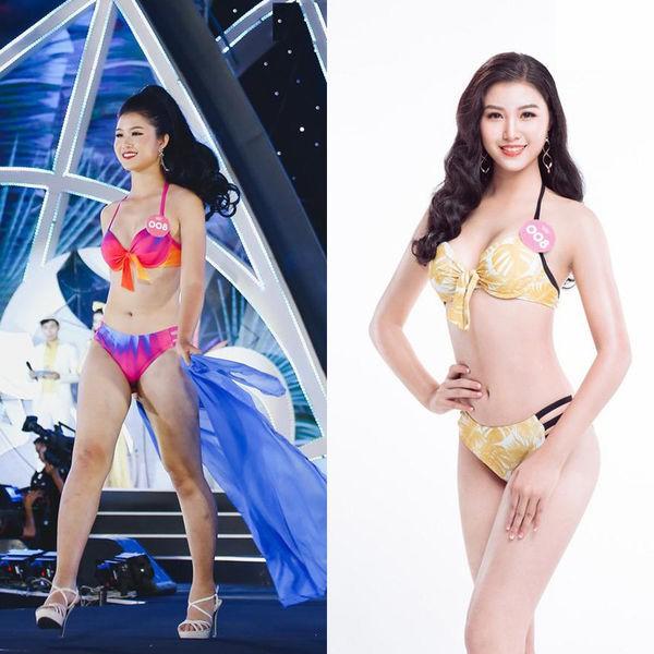 Thi bikini trực tiếp trên sân khấu khiến nhiều thí sinh bị soi chân to, bụng ngấn mỡ