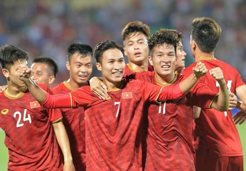U23 Việt Nam thắng Myanmar với tỷ số 2-0. Ảnh: Việt Hùng.