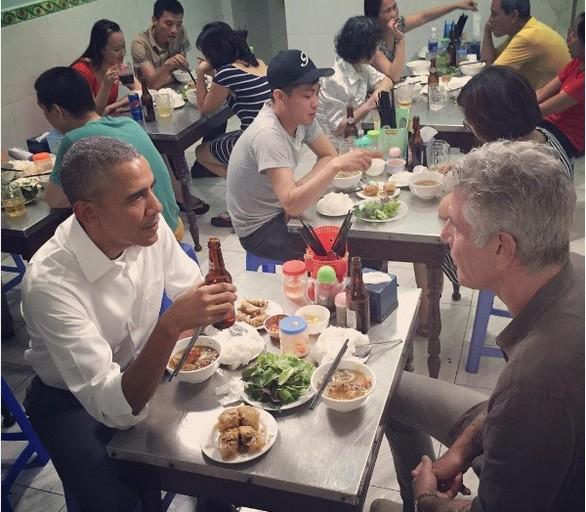Bún chả là món ăn nức tiếng đến mức Tổng thống Mỹ Obama khi đến thăm Việt Nam vào tháng 5-2016 cũng đã thưởng thức món ăn này