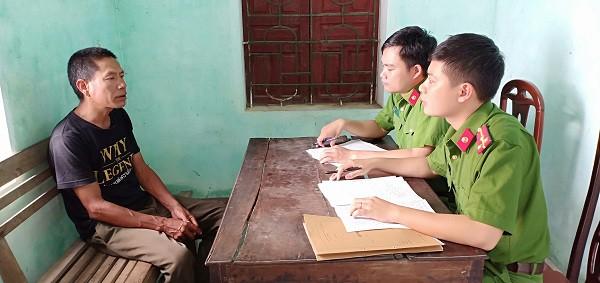 Phan Đình Thành tại cơ quan điều tra.