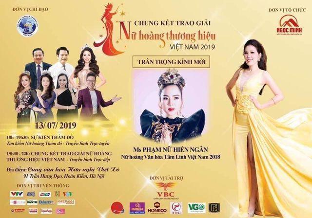Sở VH-TT&DL Vĩnh Phúc lên tiếng về việc cấp phép tổ chức chương trình trao giải 'Nữ hoàng thương hiệu Việt Nam 2019' - Ảnh 1.