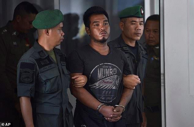 Ronnakorn thừa nhận đã cưỡng hiếp và giết hại nữ du khách người Đức sau khi bị bắt hôm 7/4. Ảnh: AP.