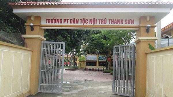 Trường Phổ thông dân tộc nội trú THCS Thanh Sơn nơi xảy ra vụ việc.