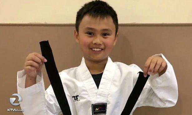 Tristan vừa tham dự giải Taekwondo