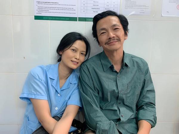 NSƯT Trung Anh đóng vai vợ chồng với diễn viên Đinh Thúy Hà.