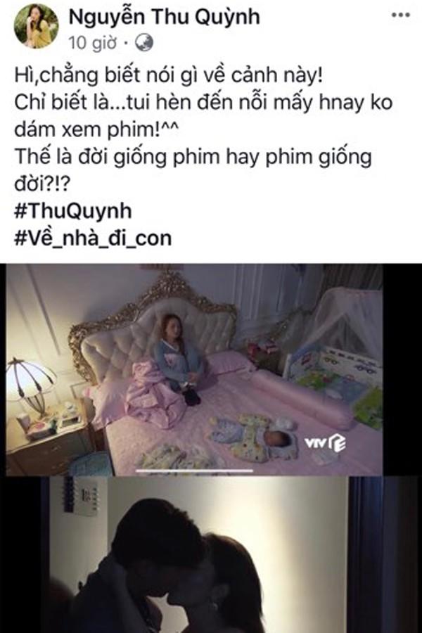 Tâm sự đêm khuya của Thu Quỳnh về cảnh trong phim Về nhà đi con.