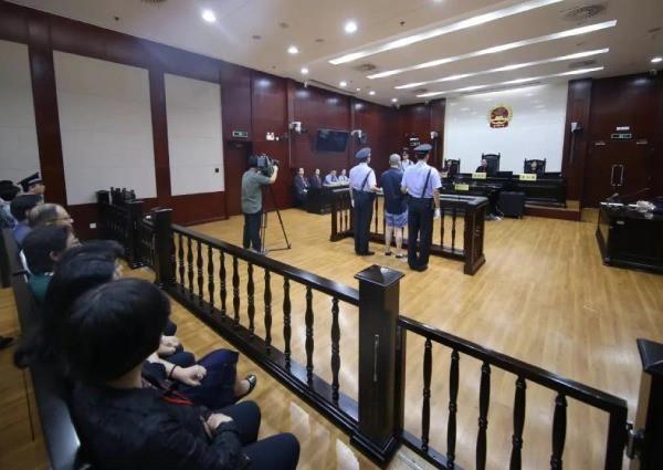 Phiên tòa xét xử bị cáo Chu Hiểu Đông ngày 5/7 vừa qua. Ảnh: Sina.