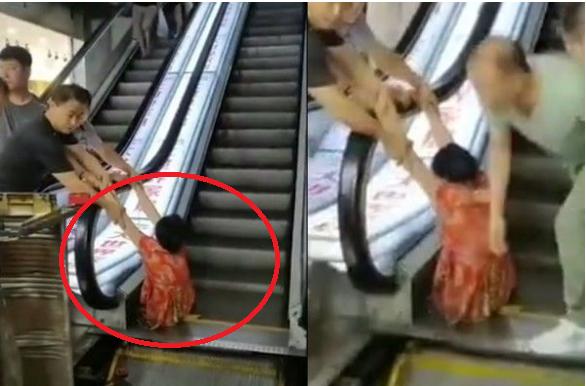 """Đi mua sắm, người phụ nữ bị thang cuốn """"nuốt"""" trọn 2 chân, nhân chứng kể lại chi tiết sự việc khiến ai cũng rùng mình kinh hãi - Ảnh 1."""