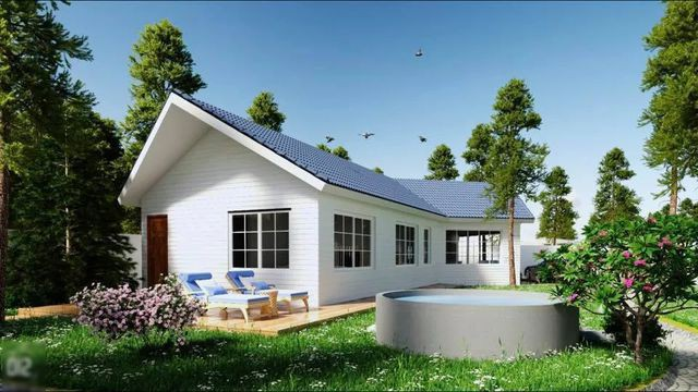 Thiết kế ngôi nhà đẹp như các ngôi nhà ở làng quê Châu Âu.