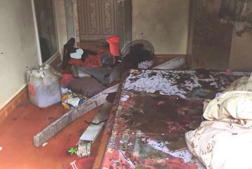 Hiện trường vụ án mạng thiêu sống cả nhà người tình ở Sơn La. Ảnh internet
