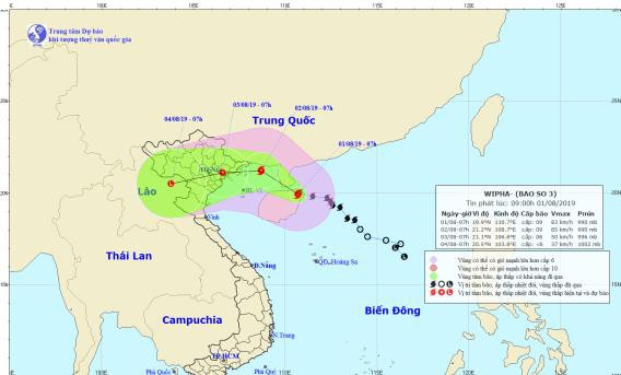 Bão số 3 cách Quảng Ninh, Hải Phòng 360 km - Ảnh 1.