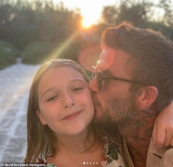 Hình ảnh ngọt ngào giữa công chúa Happer và bố David Beckham khiến hàng nghìn trái tim tan chảy - Ảnh 2.