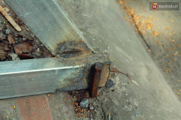 Hà Nội: Người dân vô tư ngồi bán hàng, trú nắng dưới bức tường rào sắp đổ sập của nhà khách La Thành - Ảnh 7.
