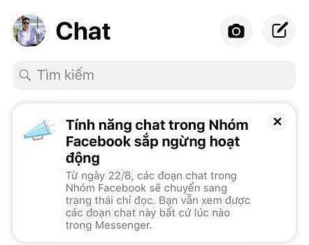 Sẽ không thể chat nhóm trong Facebook Group - Ảnh 2.