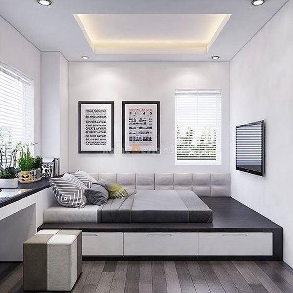 Phòng ngủ nổi bật cho nhà phố hẹp nhờ biến tấu cổ điển và cây xanh - Ảnh 5.