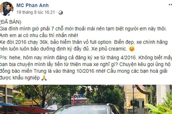 3 năm sau ngày kêu gọi ủng hộ miền Trung lũ lụt, cuộc sống của MC Phan Anh thay đổi ra sao? - Ảnh 1.