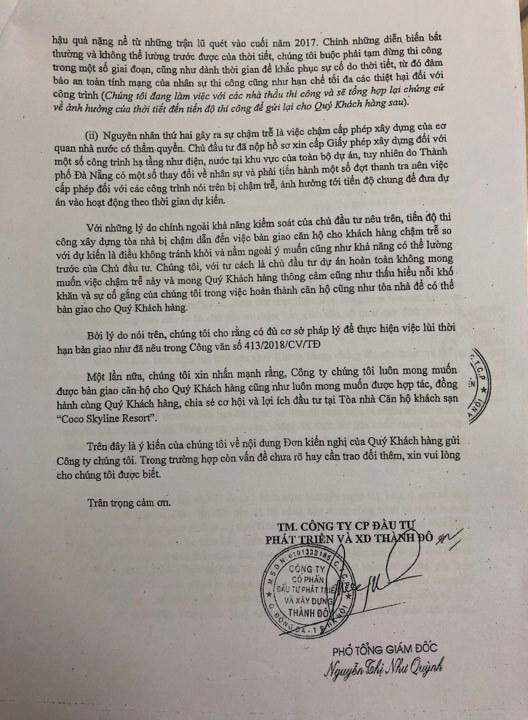 Chủ đầu tư Cocobay nói TP Đà Nẵng chậm trễ công vụ nên không có nhà bàn giao cho khách mua - Ảnh 2.
