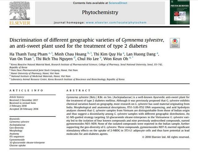 Đột phá mới từ nghiên cứu tác dụng hạ đường huyết của Dây thìa canh Việt Nam - Ảnh 2.