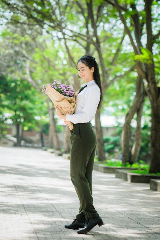 Hoa khôi Đại học An ninh hãnh diện vì có nét đẹp đặc trưng của người Khmer - Ảnh 4.