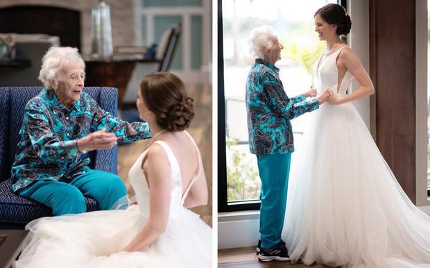 Cô dâu bí mật mang váy cưới đến gặp người bà đã gần đất xa trời, để lại câu chuyện dễ rơi nước mắt còn hơn cả cuộc chia ly của Jack và Rose trong Titanic huyền thoại - Ảnh 3.