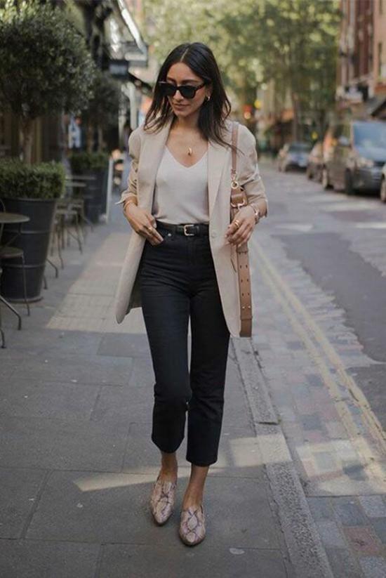 Phối áo blazer cùng quần jeans - Ảnh 4.