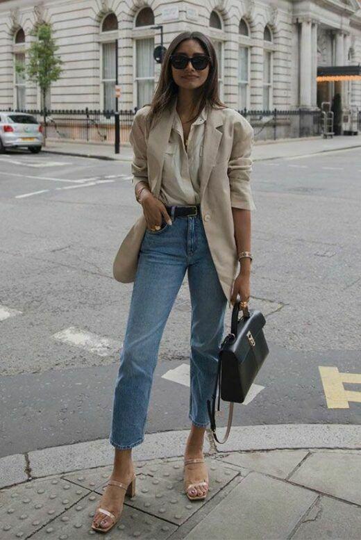 Phối áo blazer cùng quần jeans - Ảnh 6.