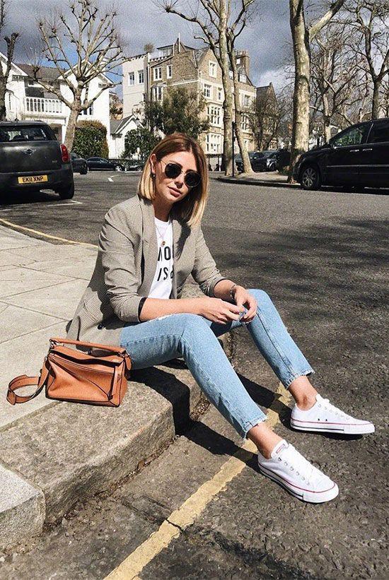 Phối áo blazer cùng quần jeans - Ảnh 7.