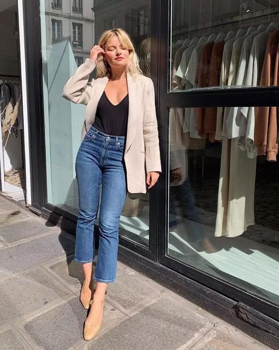 Phối áo blazer cùng quần jeans - Ảnh 9.