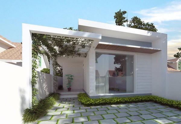 Những mẫu thiết kế nhà cấp 4 mái bằng 2-3 phòng ngủ, nhà đông người nên xây - Ảnh 15.