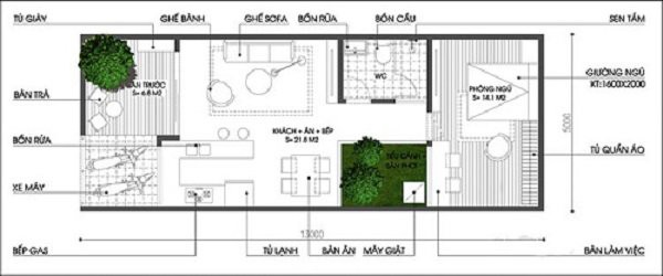 Những mẫu thiết kế nhà cấp 4 mái bằng 2-3 phòng ngủ, nhà đông người nên xây - Ảnh 19.