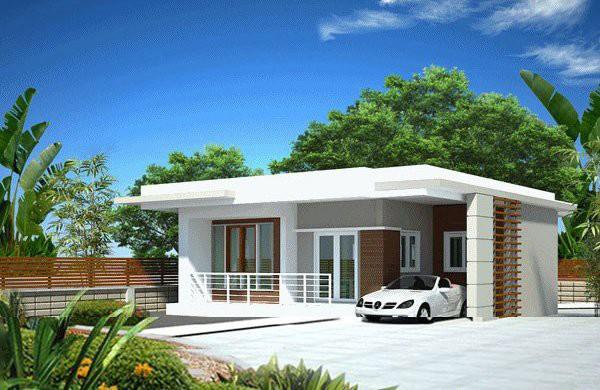 Những mẫu thiết kế nhà cấp 4 mái bằng 2-3 phòng ngủ, nhà đông người nên xây - Ảnh 5.
