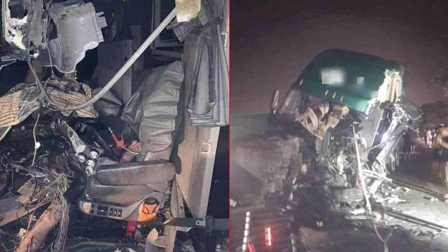 Hải Phòng: Mất lái, tài xế xe container gây tai nạn và mắc kẹt trong cabin - Ảnh 1.