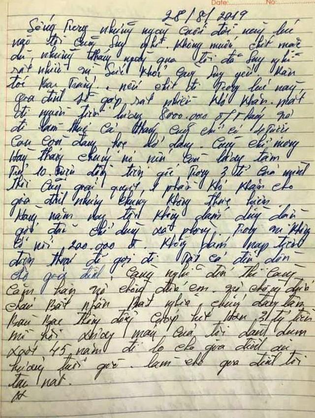 Bức thư tuyệt mệnh nghi của hung thủ truy sát cả nhà em gái: Nếu là thật có giúp giảm tội? - Ảnh 2.