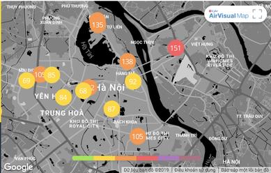 Ô nhiễm không khí những ngày này ở Hà Nội ảnh hưởng lớn tới sức khỏe con người