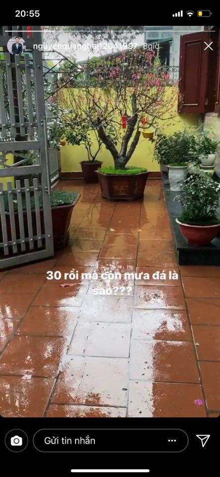 Sao Việt than thở khi gặp mưa lớn ngày 30 Tết - Ảnh 3.