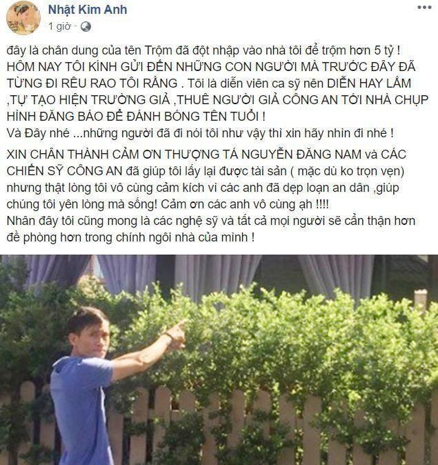 Nhật Kim Anh chia sẻ thông tin bất ngờ về tên trộm đột nhập nhà mình và các nghệ sĩ nổi tiếng - Ảnh 1.