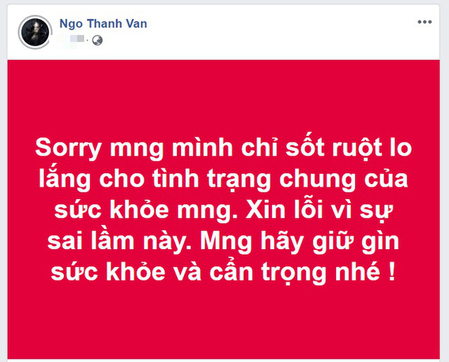 Ngô Thanh Vân chính thức lên tiếng sau khi đăng tải tin sai lệch về virus corona - Ảnh 2.