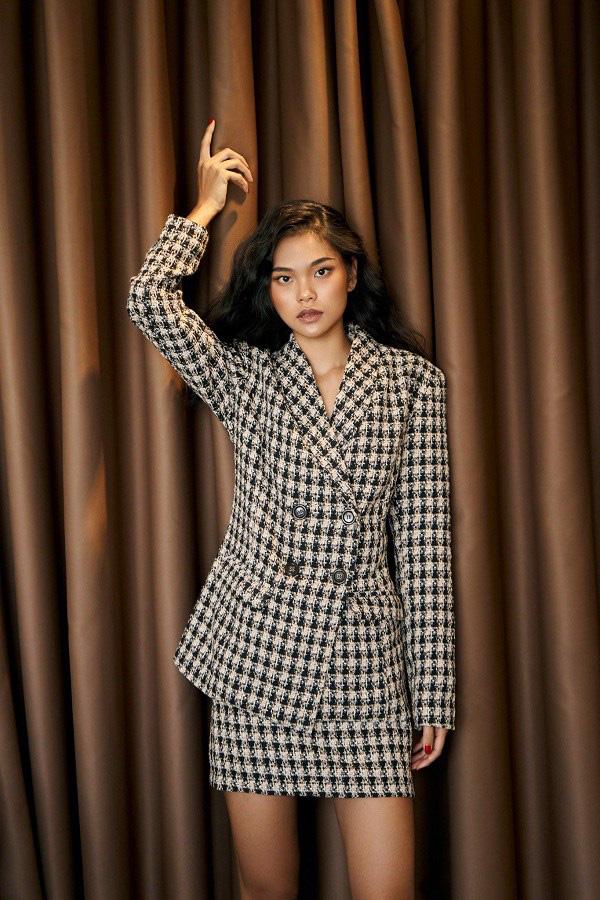 """Học sao Việt cách """"lên đồ"""" nguyên cây vải tweed chuẩn đẹp - Ảnh 15."""
