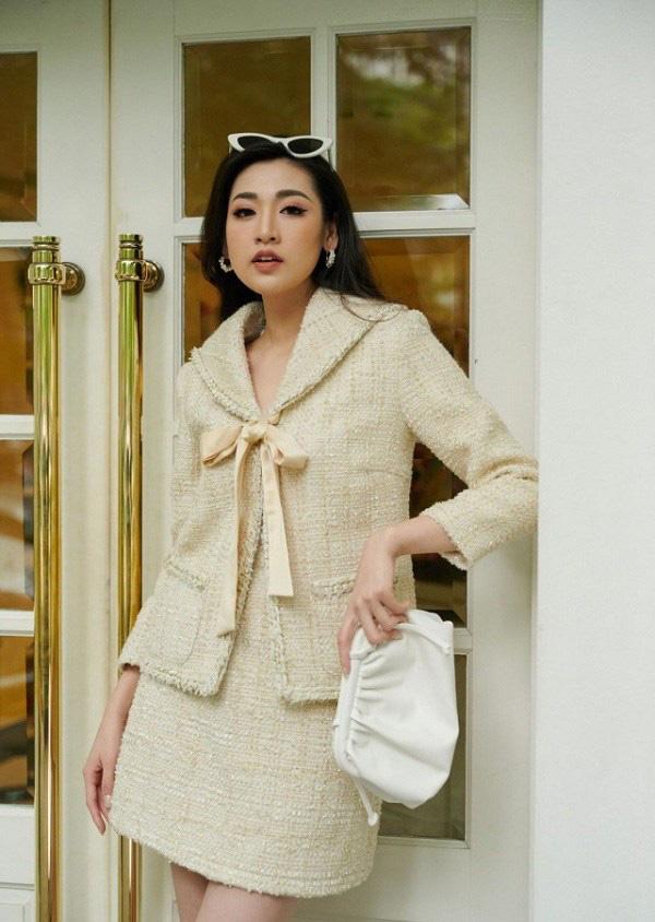 """Học sao Việt cách """"lên đồ"""" nguyên cây vải tweed chuẩn đẹp - Ảnh 4."""