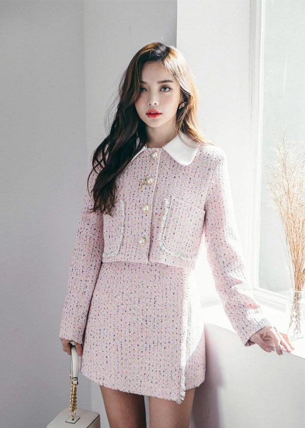 """Học sao Việt cách """"lên đồ"""" nguyên cây vải tweed chuẩn đẹp - Ảnh 10."""