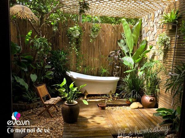 Muốn có khu tắm tiên, 8X vác tre, nứa về giữa thủ đô cải tạo sân vườn 55m2 đẹp mê - Ảnh 15.