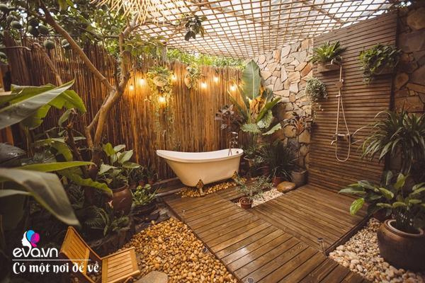 Muốn có khu tắm tiên, 8X vác tre, nứa về giữa thủ đô cải tạo sân vườn 55m2 đẹp mê - Ảnh 16.